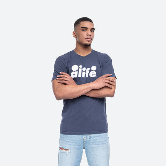 Alife Bubble Logo Tee ALISS20-71 NAVY/WHITE