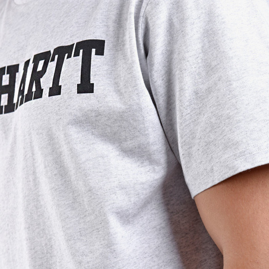 Carhartt College T-Shirt I024772 ASH HEATHER/BLACK