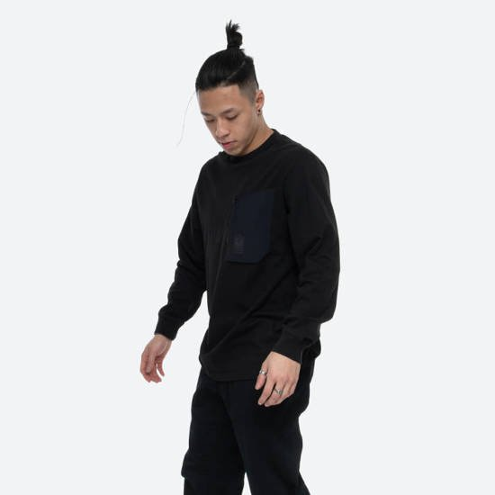 Maharishi Tech Pocket Organic Longsleeve 6399 BLACK