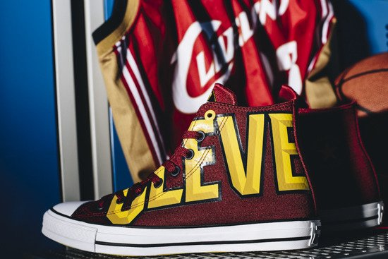 Men's Shoes sneakers Converse Chuck Taylor Nba Cleveland Cavaliers 159417C